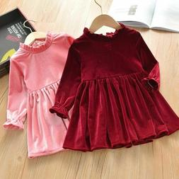 Party Dresses Autumn Winter Children Clothing Casual Long Sl