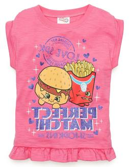 Shopkins Perfect Match Graphic Tee Girls Size 4 5 Tops Shirt