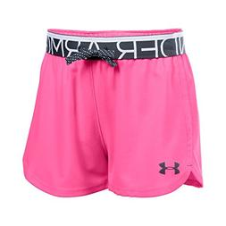 Under Armour Girls' Play up, Pink Punk/Stealth Gray, Youth S