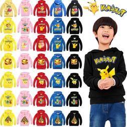 Pokemon Go Kid Girl Boy Sweatshirts Hoodies Jacket Coat Oute