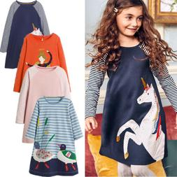Princess Girls Clothes Long Sleeves Baby Kids Dress Jersey A