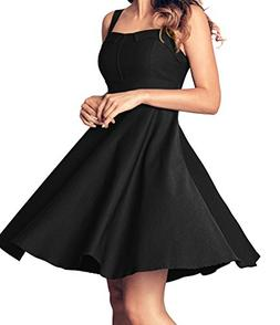 Angerella Retro Dresses for Women Vintage Black Party Sleeve