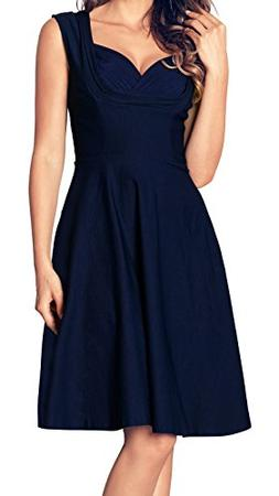 Angerella Retro Dresses For Women Vintage V-Neck Sleeveless