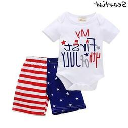 Seartist Baby Boys Girls July 4th Clothing Sets 4th of July