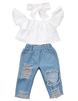 shoulder lotus leaf holes denim