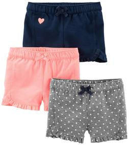 Simple Joys by Carter's Baby Girls' Toddler 3-Pack Knit Shor