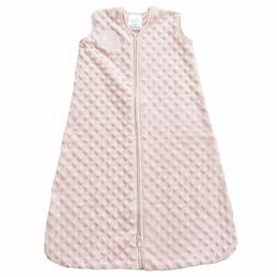 HALO SleepSack Plush Dot Velboa Wearable Blanket, Pink, Medi