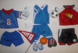 "Sports doll clothes lot fit 18""American Girl or boy doll bas"