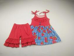 strawberry pattern <font><b>girls</b></font> outfits out of