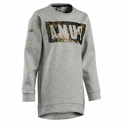 PUMA Style Girls' Long Crew Sweater Girls Sweat Kids New