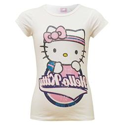 Kids Girls Official HELLO KITTY Stylish 100% Cotton Trendy T
