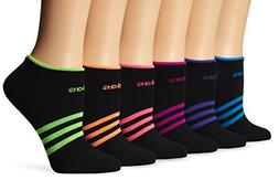 adidas Girls Superlite No Show Socks , Black/Solar Pink/Sola