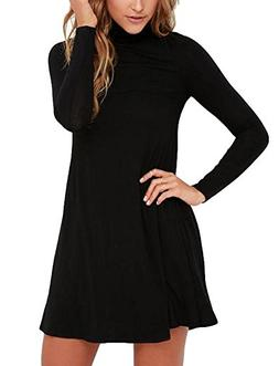 BomDeals Sway,Womens Casual Turtleneck Long Sleeves T-Shirt