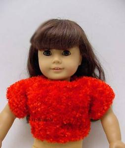 """Sweater for 18"""" American Girl Doll Clothes Pullover Red Nove"""