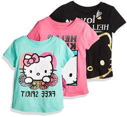 Hello Kitty Girls' Big Girls' 3 Pack T-Shirt Shirt, Multi Co