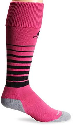 adidas Team Speed Soccer Sock, Intense Pink/Black, Medium