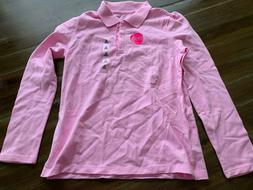 The Children's Place Girls Pink Long Sleeve Polo Size XL New