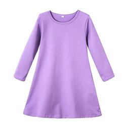 Fineser TM Little Girl's Candy Color Long Sleeve Cotton Soft
