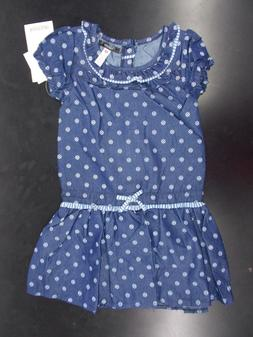 Toddler & Girls Kensie $42 Denim Blue Dress Size 2T - 6X