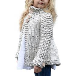 Sunbona Toddler Baby Girls Cute Autumn Button Knitted Sweate
