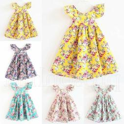 Toddler Baby Girls Dress Sleeveless Princess Party Pageant D
