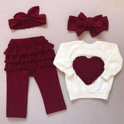 Toddler Baby Kids Girl Clothes Top T-shirt Pants Leggings Ou