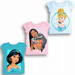 Disney Toddler Girls' Cinderella, Pocahontas, Jasmine 3-Pack