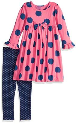 Gerber Toddler Girls' Dress and Legging Set, Spots, 5T