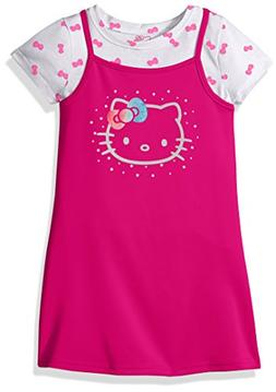 Hello Kitty Toddler Girls' 2 Piece Dress Set With Printed Te