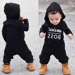 Toddler Kid Baby Letter Boys Girls Hoodie Outfits Clothes Ro