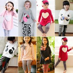 Toddler Kids Girls Tracksuit Sweatshirts Tops Pants Outfits