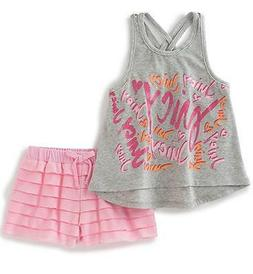 Juicy Couture Toddler/Little Girls 2pc Tank & Ruffle Short S