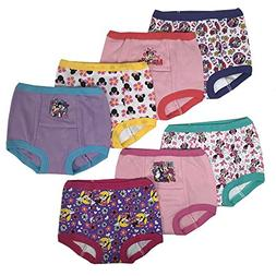 Disney Toddler Girls' Minnie Mouse 7 Pack Training Pants, Mi