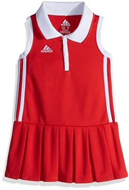 adidas Girls' Toddler Yrc Active Polo Dress, Vivid Red, 2T
