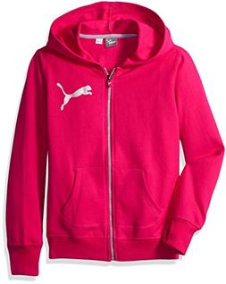 PUMA Toddler Girls' Zipped Hoodie, Love Potion, 2T