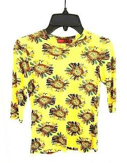 Top Tee T-Shirt Lola Brand Girls Clothing Yellow Color Flora