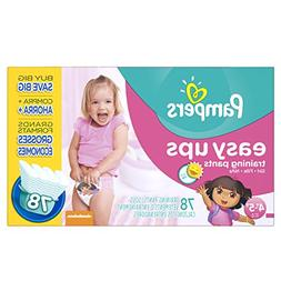 Pampers Easy Ups Training Pants Girls Size 7 , 78 ea