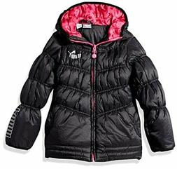 PUMA  Childrens Apparel Little Girls Quilted Puffer Jacket