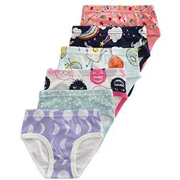 benetia Toddler Girls Underwear Panties Soft Cotton 6-Pack S
