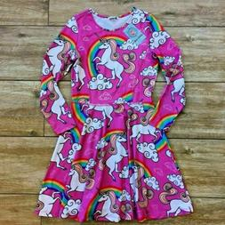 Jxstar Unicorn Dress Rainbow Pink Girls size 160 Age 11 12 1