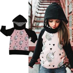Unicorn Kids Girls Hoodies Hooded Sweatshirt Sweater Jacket
