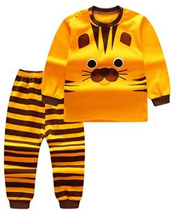 Unisex Baby Boys Girls 2-Piece Cotton Pajama Sleepwear Outfi