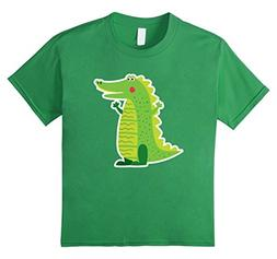 unisex-child Cute Smiling Crocodile Animal Lover Adult & Tod