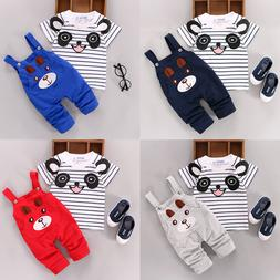 US 2PCS Toddler Baby Boy Girls T-shirt Tops+Pants Overalls O