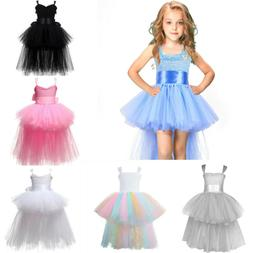 US Flower Girls Toddler Baby Kids Princess Wedding Party For