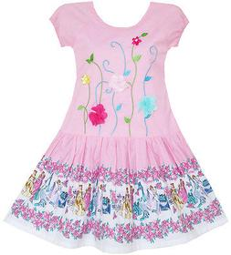 US Girls Dress Kids Embroidered Leaves Flower Party Cotton P