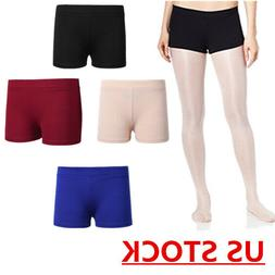 US Kids Girls Ballet Dance Booty Shorts Sports Gym Workout Y