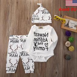 US New Toddler Baby Boys Girls Clothes Outfits Kids Clothing