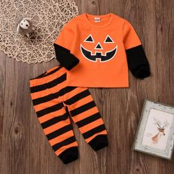 USA Halloween Newborn Baby Girls Long Sleeve Tops T-Shirt Pa