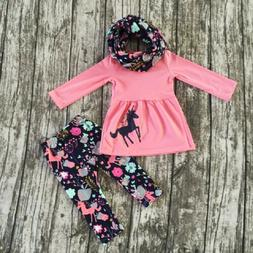 USA Toddler Girls Kid Baby Dress Unicorn Cotton Tops Pants O